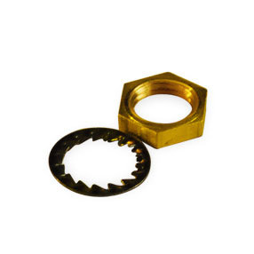 10 Hexagonal brass 10mm nuts & washers