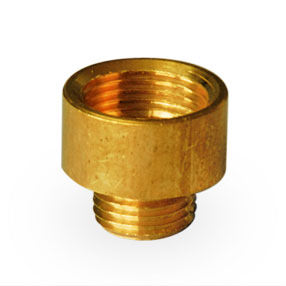 Solid brass female to male reduction bush