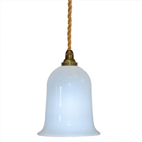 Group Photo of Glass light shade hand blown opalescent white with Bayonet top