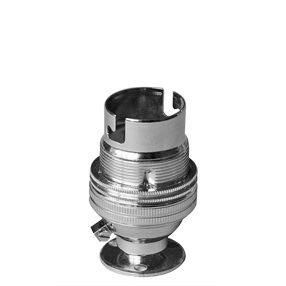 Group Photo of Bulb holder in Chrome - Bayonet lamp holder 10mm