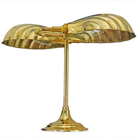 Solid Brass Metal Scalloped Shell Shade Clam Footlights