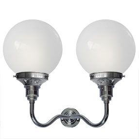 Group Photo of Twin-armed Edison Screw wall light in chrome
