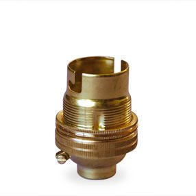 bayonet cap shade-ring lamp holder