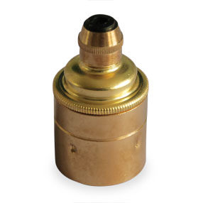 Cord grip ES lampholder in brass