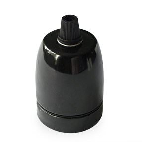 edison cordgrip lampholder black ceramic