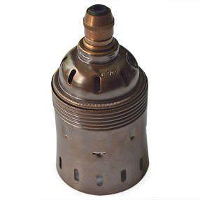 GES lampholder in Vintage brass
