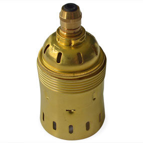 GES Industrial style lampholder in brass