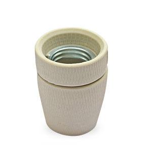 Ceramic Linen coloured ES Lamp holder