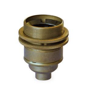 bayonet lampholder with shade rings
