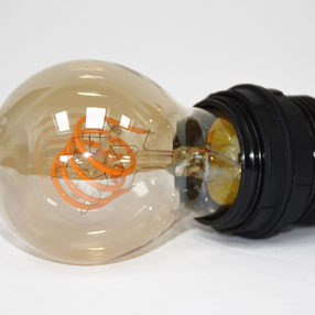 Group Photo of Edison screw plastic threaded lampholder in black