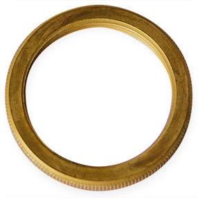 Lamp holder light shade ring in brass - E27