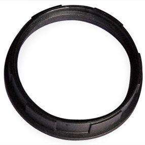 Black Plastic large Edison light shade ring