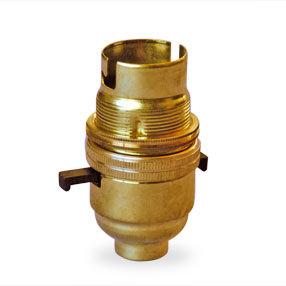 Solid brass lampholder with switch