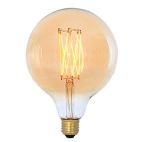 Large Edison Globe Gold Squirrel Cage bulb LED