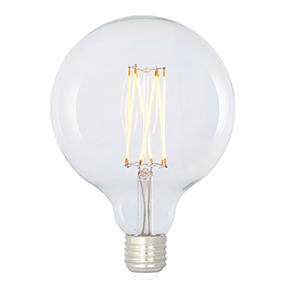 dimmable LED filament large globe lamp