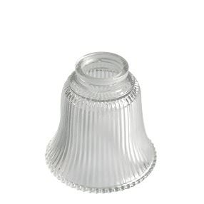 Small prismatic glass bell light shade