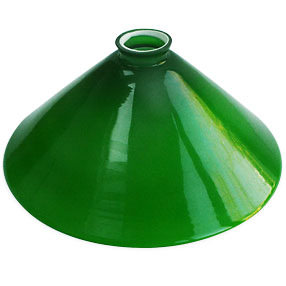 Coolie Lamp Shade in green glass