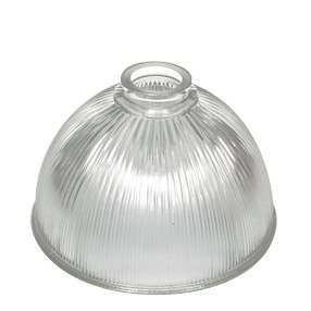 Medium Dome Prismatic reeded clear glass light shade