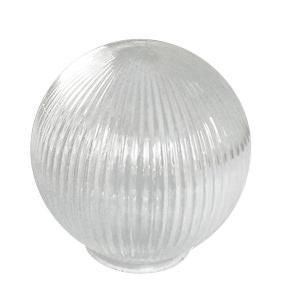 Glass prismatic globe lightshade - Medium