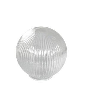 Glass prismatic globe lightshade - small