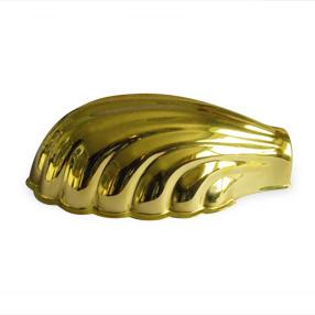 Shell shade in brass