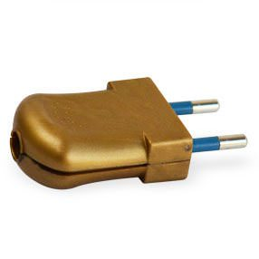 gold plastic 2 pin plug