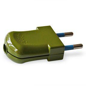 Sage green Euro 2 pin electrical plug
