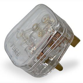 Transparent plastic 3-Pin 3 Amp UK plug