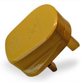 Gold plastic UK 3-Pin 3 Amp plug