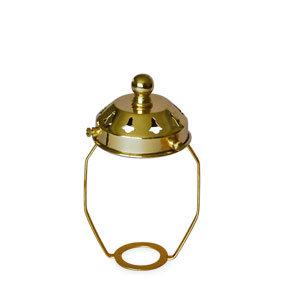 Brass Shade carrier with gallery top