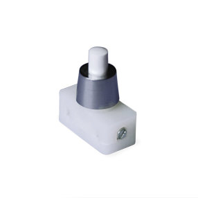 Chrome cap small push button switch