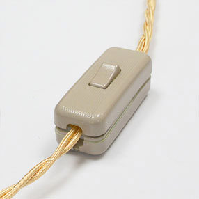 Group Photo of Linen coloured in-line rocker table lamp switch