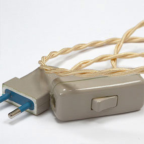 Group Photo of Natural Linen cream Euro 2 pin electrical plug