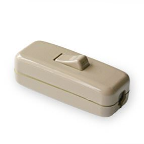 linen coloured inline rocker lamp switch