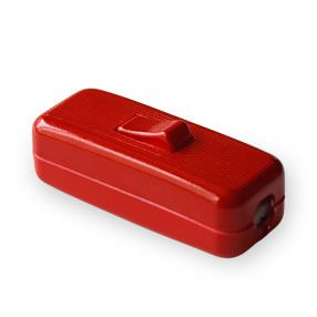 Red in-line Rocker lamp switch
