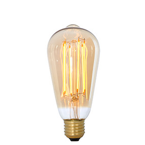 Vintage Gold LED Dimmable squirrel ES light bulb