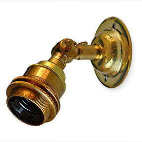 Small adjustable Edison wall light in brass
