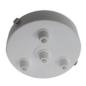 White Multi Cord Grip Ceiling Plate