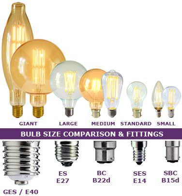 different light bulb sizes guide
