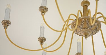 candle tube chandelier
