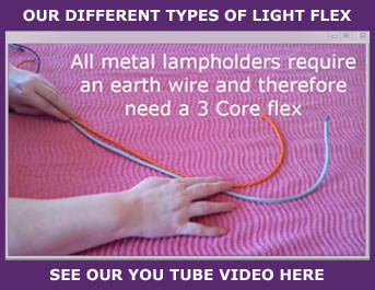 Different types of fabric lighting flex