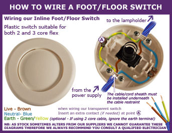 How to Wire a Foot or Floor Switch