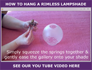 Hanging a rimless lampshade