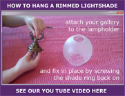 Hanging a rimmed shade