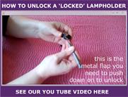unlocking an Edison Screw lampholder