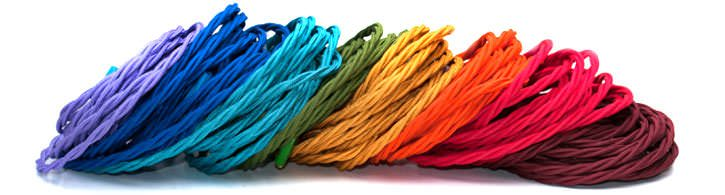 funky coloured fabric lighting cable