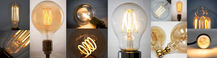 lamp bulbs with decorative squirrel cage filaments