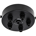 Black 5 Cord Grip Ceiling Plate