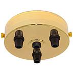 brass 3 black cord grip large ceiling rose