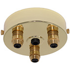 brass triple cord grip large ceiling rose